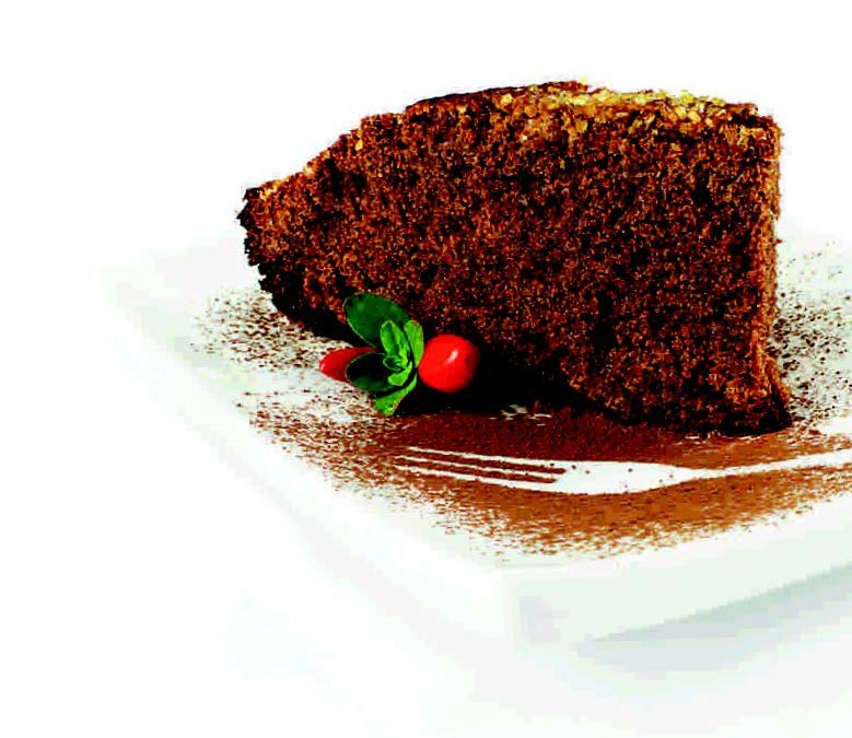 Light Chocolate and Brachetto Passito cake