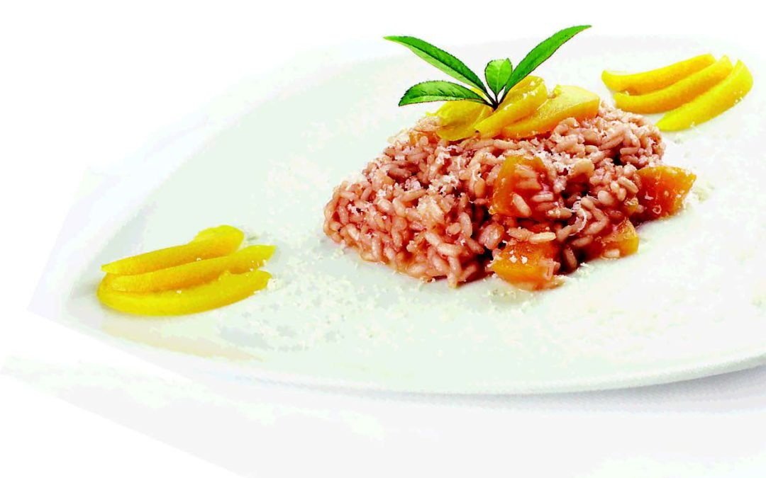 Risotto with Peaches and Piemonte Brachetto